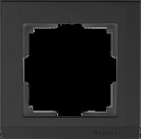 Рамка на 1 пост /WL04-Frame-01-black (черный)
