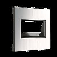 Накладка для двойной розетки Ethernet RJ45 /WL02-RJ45+RJ45-CP/ (глянцевый никель)