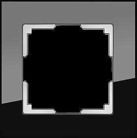 Рамка на 1 пост /WL01-Frame-01 (черный)
