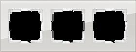 Рамка на 3 поста /WL01-Frame-03 (дымчатый, стекло)