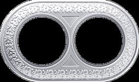 Рамка на 2 поста /WL07-Frame-02 (жемчужный)