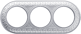 Рамка на 3 поста /WL07-Frame-03 (жемчужный)
