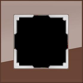 Рамка на 1 пост /WL01-Frame-01 (мокко)