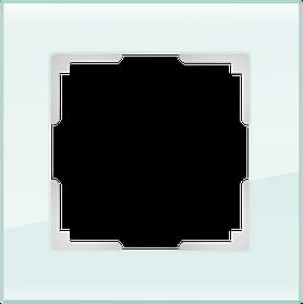 Рамка на 1 пост /WL01-Frame-01 (натуральное стекло)