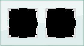 Рамка на 2 поста /WL01-Frame-02 (натуральное стекло)