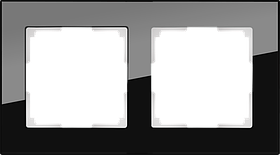 Рамка на 2 поста /WL01-Frame-02 (черный)