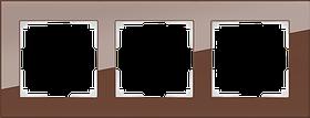 Рамка на 3 поста /WL01-Frame-03 (мокко)