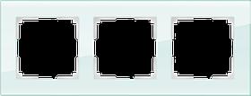 Рамка на 3 поста /WL01-Frame-03 (натуральное стекло)