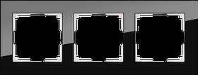 Рамка на 3 поста /WL01-Frame-03 (черный)