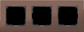 Рамка на 3 поста /WL11-Frame-03 (коричневый алюминий)