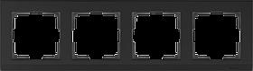 Рамка на 4 поста /WL04-Frame-04-black (черный)