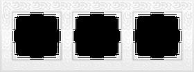 Рамка на 3 поста /WL05-Frame-03 (белый)