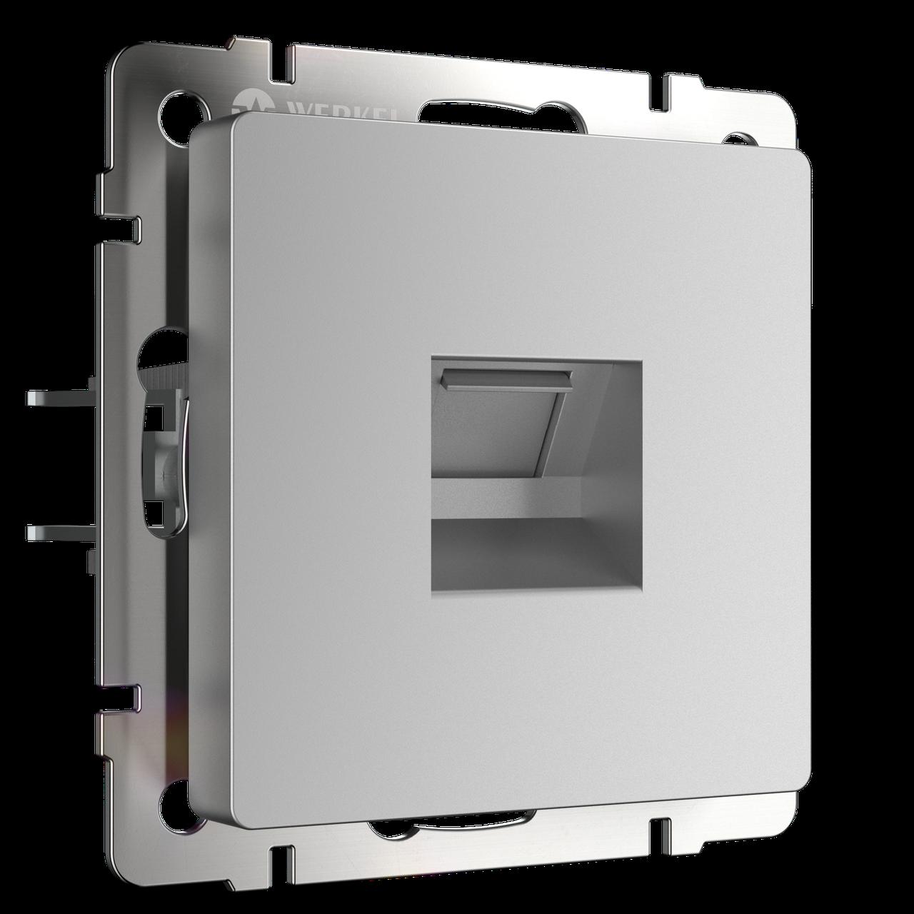 Розетка Ethernet RJ-45 /WL06-RJ-45 (серебряный)