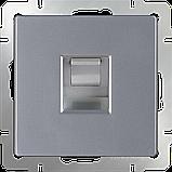 Розетка Ethernet RJ-45 /WL06-RJ-45 (серебряный), фото 2