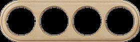 Рамка на 4 поста /WL15-Frame-04 (светлый бук)