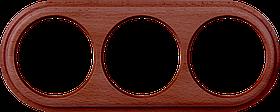 Рамка на 3 поста /WL15-Frame-03 (итальянский орех)