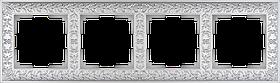 Рамка на 4 поста /WL07-Frame-04 (жемчужный)
