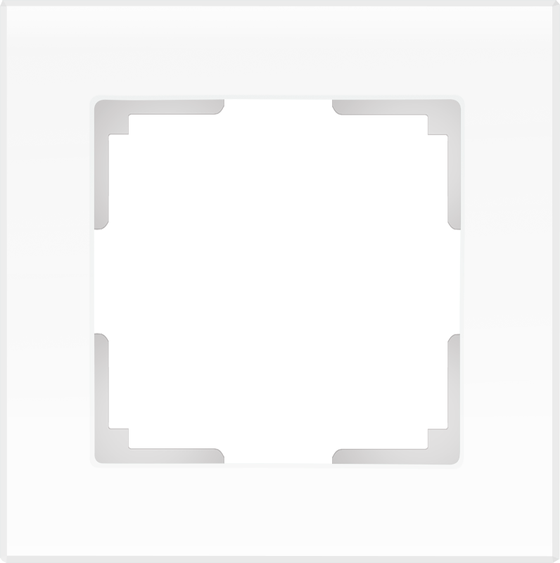 Рамка на 1 пост /WL01-Frame-01 (белый матовый)