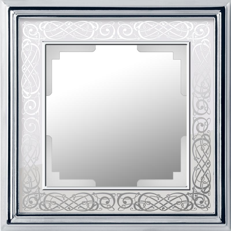 Рамка на 1 пост /WL77-Frame-01 (хром/белый)