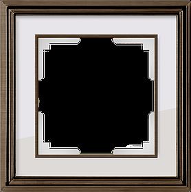 Рамка на 1 пост /WL17-Frame-01 (бронза/белый)