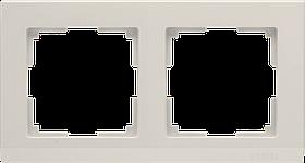 Рамка на 2 поста /WL04-Frame-02-ivory (слоновая кость)