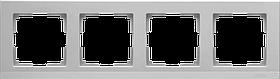 Рамка на 4 поста /WL09-Frame-04 (серебрянный)