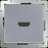 Розетка HDMI/WL06-60-11 (серебряный), фото 2