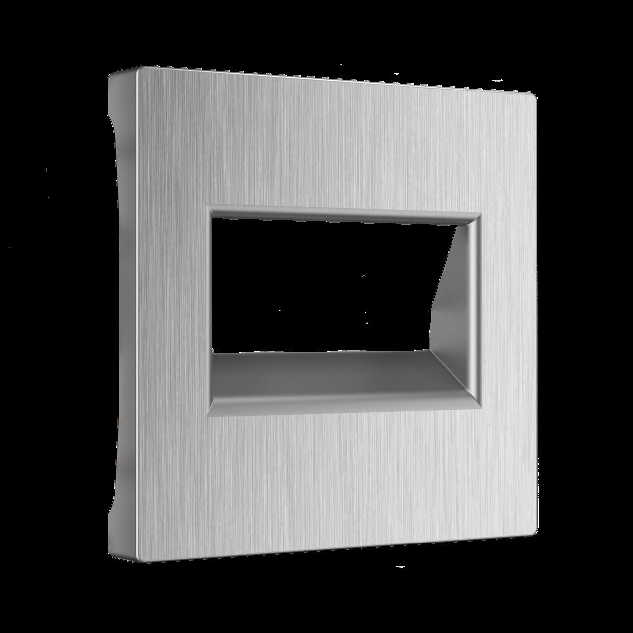 Розетка Ethernet RJ-45 /WL09-RJ-45 (серебряный рифленый)