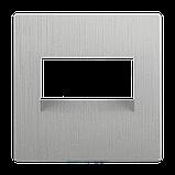 Розетка Ethernet RJ-45 /WL09-RJ-45 (серебряный рифленый), фото 2