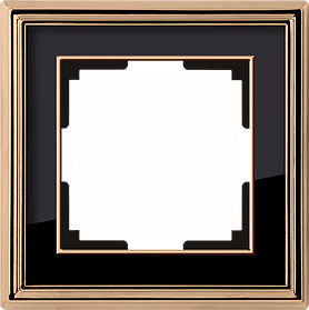 Рамка на 1 пост /WL17-Frame-01 (золото/черный)