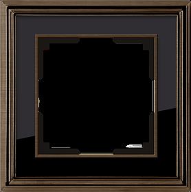 Рамка на 1 пост /WL17-Frame-01 (бронза/черный)