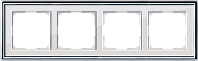 Рамка на 4 поста /WL17-Frame-04 (хром/белый)