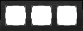 Рамка на 3 поста /WL11-Frame-03 (черный алюминий)