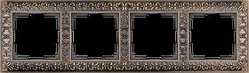 Рамка на 4 поста /WL07-Frame-04 (бронза)
