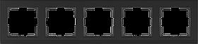 Рамка на 5 постов /WL04-Frame-05-black (черный)