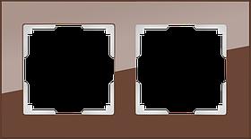 Рамка на 2 поста /WL01-Frame-02 (мокко)