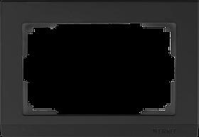 Рамка для двойной розетки /WL04-Frame-01-DBL (черный)