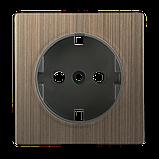 Накладка для розетки IP20 /WL12-SKGS-IP20-CP (бронзовый), фото 2