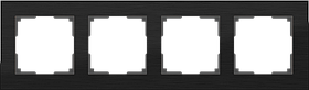 Рамка на 4 поста /WL11-Frame-04 (черный алюминий)