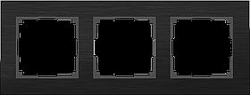 Рамка на 3 поста /WL11-Frame-03 (алюминий)