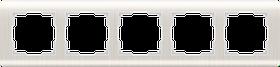 Рамка на 5 постов /WL12-Frame-05 (перламутровый)