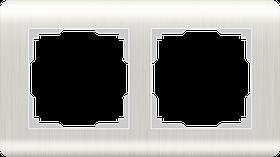 Рамка на 2 поста /WL12-Frame-02 (перламутровый)