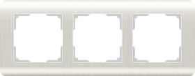 Рамка на 3 поста /WL12-Frame-03 (перламутровый)
