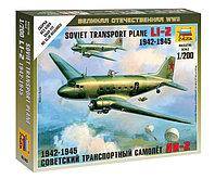 Советский транспортный самолет Ли-2 (1942-1945), сборная модель, 1:200, фото 1