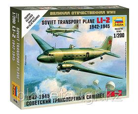 Советский транспортный самолет Ли-2 (1942-1945), сборная модель, 1:200