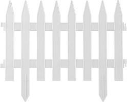 Забор декоративный белый GRINDA, 28x300 см, 422201-W