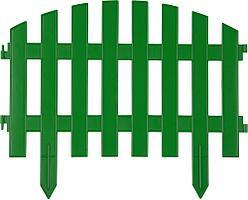 Забор декоративный зеленый, GRINDA Ар Деко, 28x300 см, 422203-G