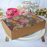 """Подарочная коробка """"Райский сад"""", размеры: 20.5*13.5*5 см и 17*11.5*5 см"""