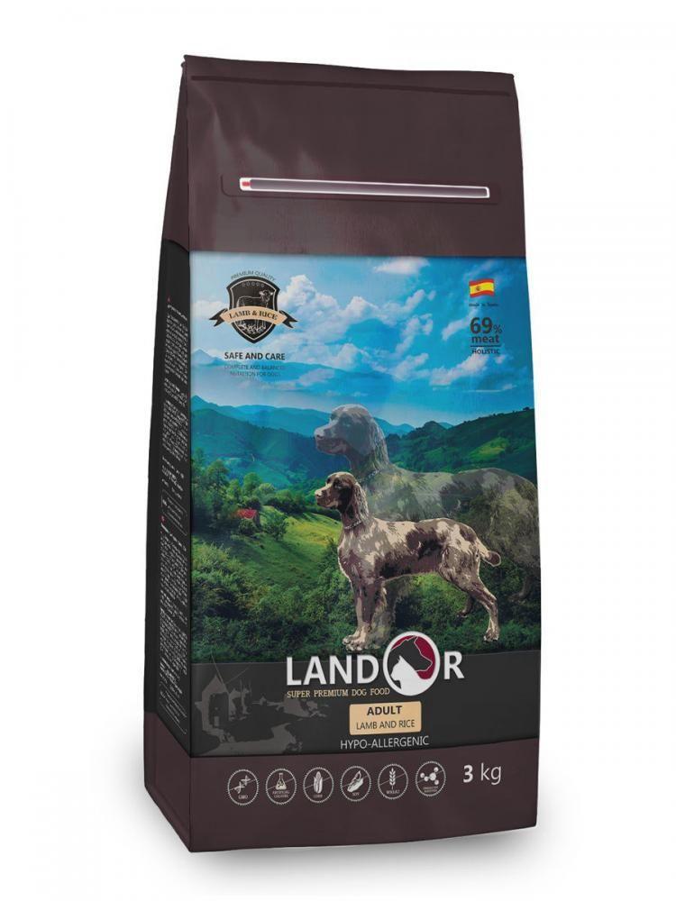 Корм Landor Adult Lamb&Rice для взрослых собак (Ягненок и рис) - 1 кг