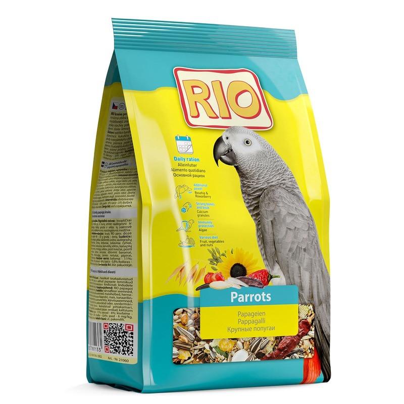 Рио Корм для крупных попугаев 500 гр